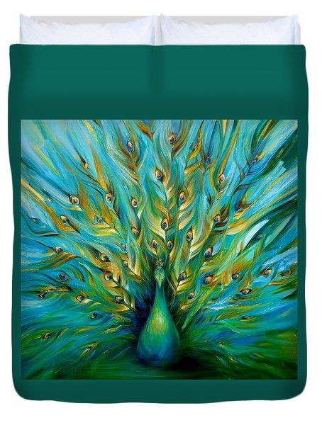 Regal Peacock Duvet Cover by Dina Dargo