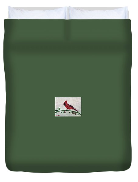 Regal Red Duvet Cover
