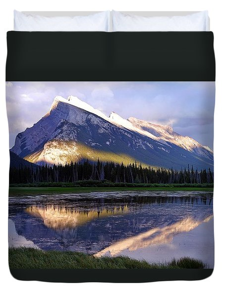 Mount Rundle Duvet Cover