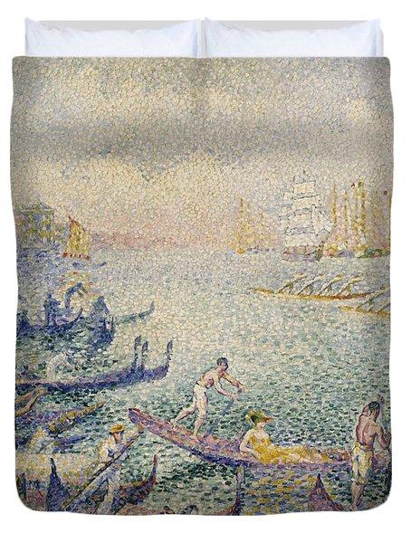 Regatta In Venice Duvet Cover