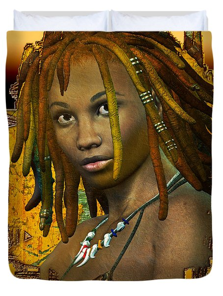 Reggae Woman Duvet Cover by Shadowlea Is