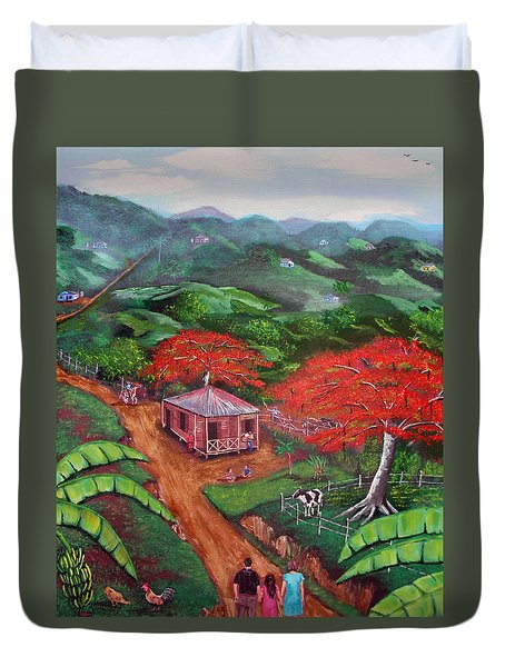 Regreso Al Campo Duvet Cover by Luis F Rodriguez