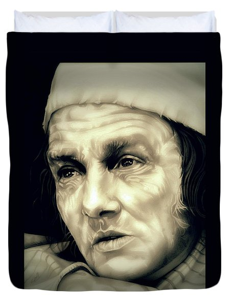 Regret Scrooge Duvet Cover by Fred Larucci