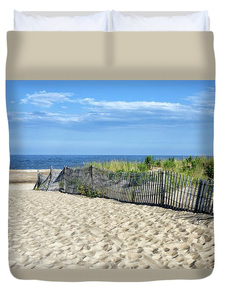 Duvet Cover featuring the photograph Rehoboth Delaware by Brendan Reals