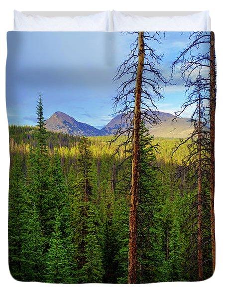 Reids Peak Duvet Cover