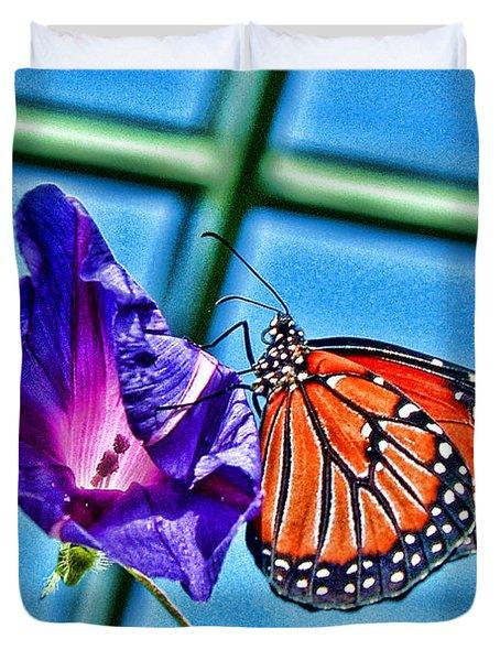 Reigning Monarch Duvet Cover