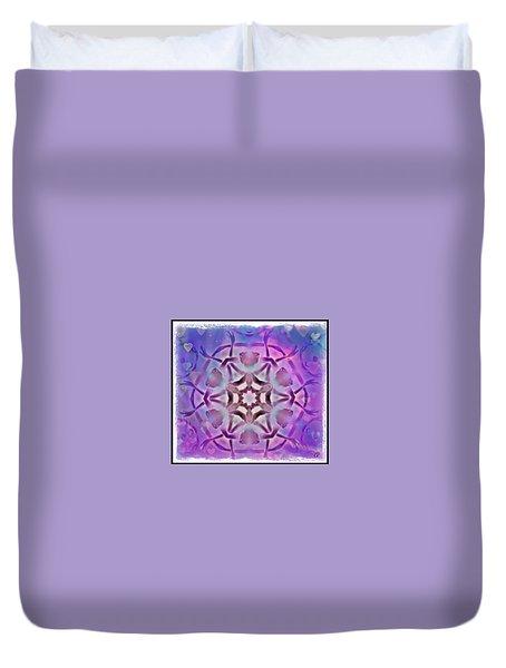 Reiki Infused Healing Hands Mandala Duvet Cover