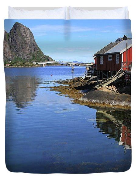 Reine, Norway Duvet Cover