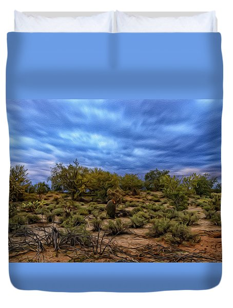 Duvet Cover featuring the photograph Rejuvenation Op19 by Mark Myhaver