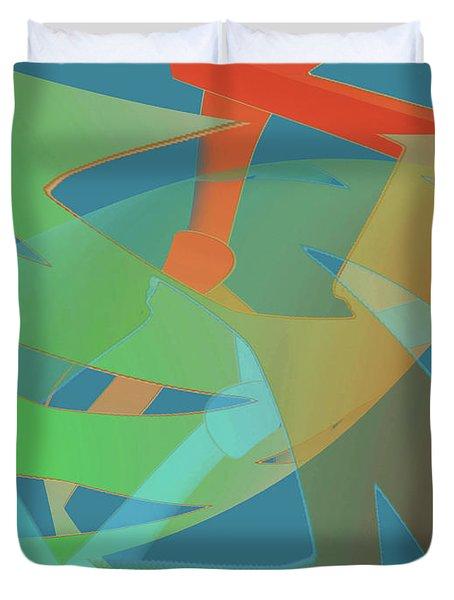 Relationship Dynamics Duvet Cover