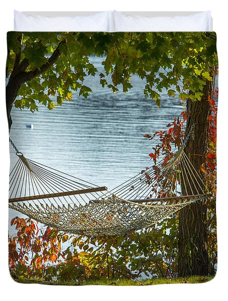 Relax By The Water Duvet Cover