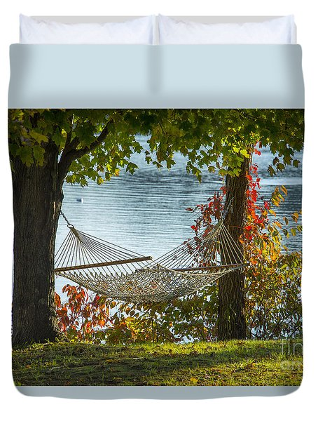 Relax By The Water Duvet Cover by Alana Ranney