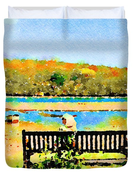 Relax Down By The River Duvet Cover