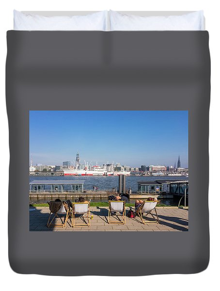 Relax On The Elbe Duvet Cover