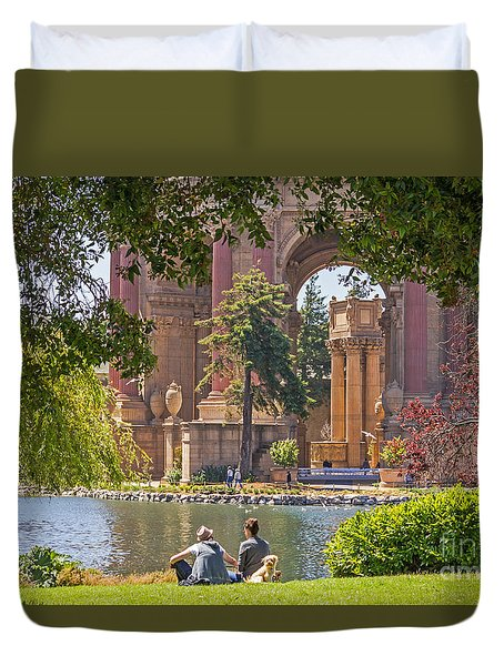 Duvet Cover featuring the photograph Relaxing At The Palace by Kate Brown