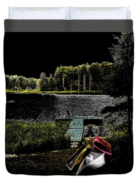Duvet Cover featuring the photograph Relaxing By Moonlight by David Patterson