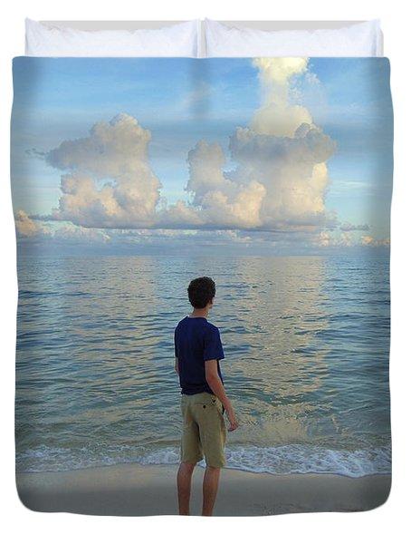 Relaxing By The Ocean Duvet Cover