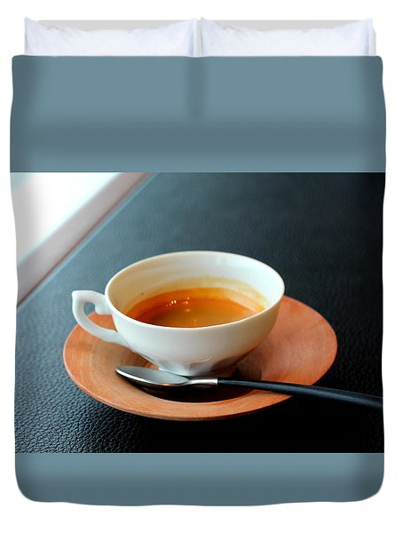 Relaxing Coffee Time Duvet Cover