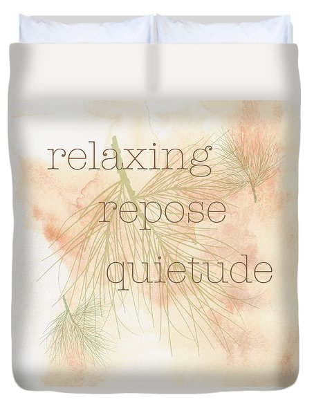 Relaxing Duvet Cover by Kandy Hurley