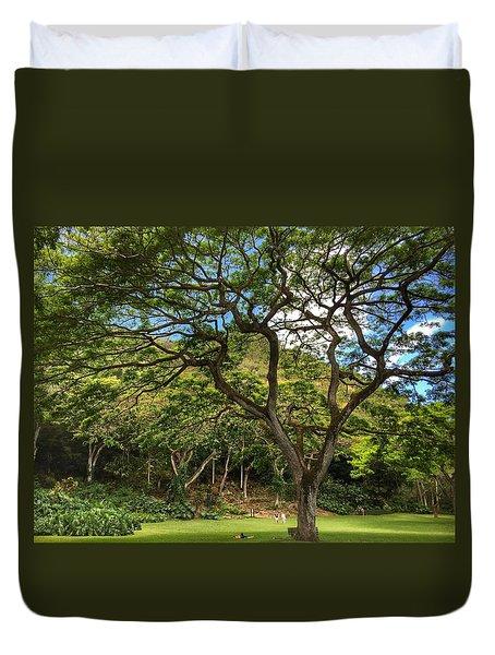 Relaxing Under The Tree Duvet Cover