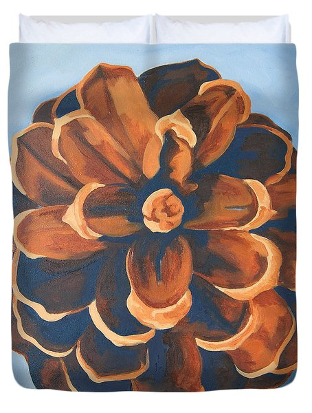 Duvet Cover featuring the painting Released by Erin Fickert-Rowland