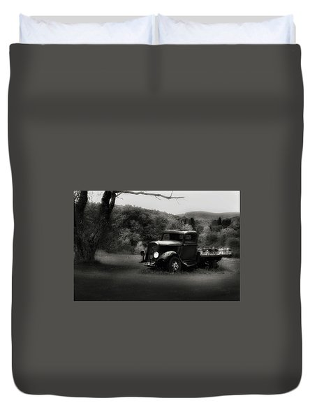 Duvet Cover featuring the photograph Relic Truck by Bill Wakeley
