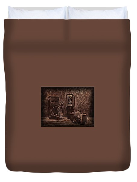 Duvet Cover featuring the photograph Relics by Mark Fuller