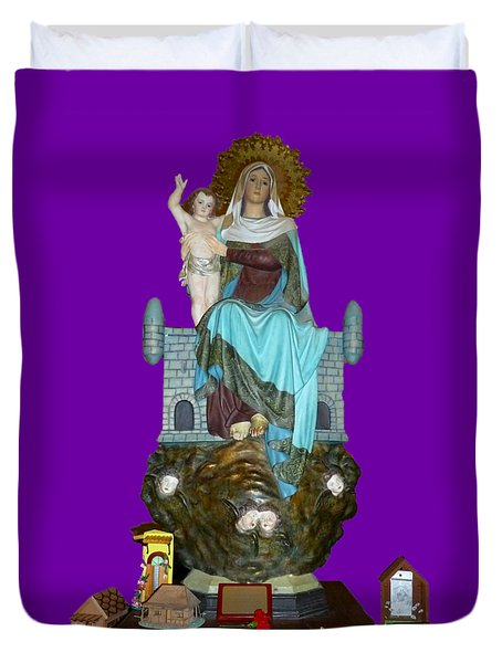 Duvet Cover featuring the photograph Religion 2 by Francesca Mackenney