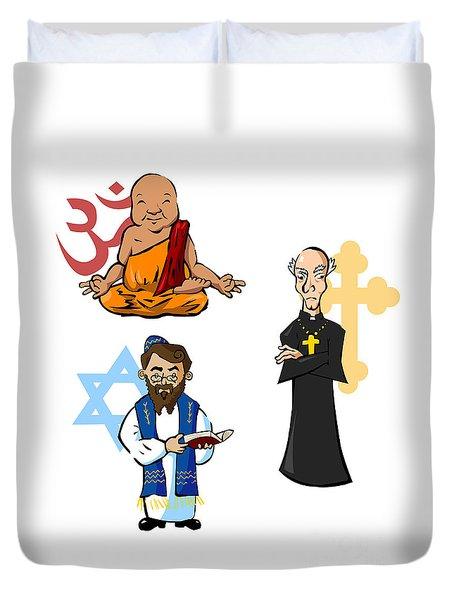 Religious Icons Duvet Cover