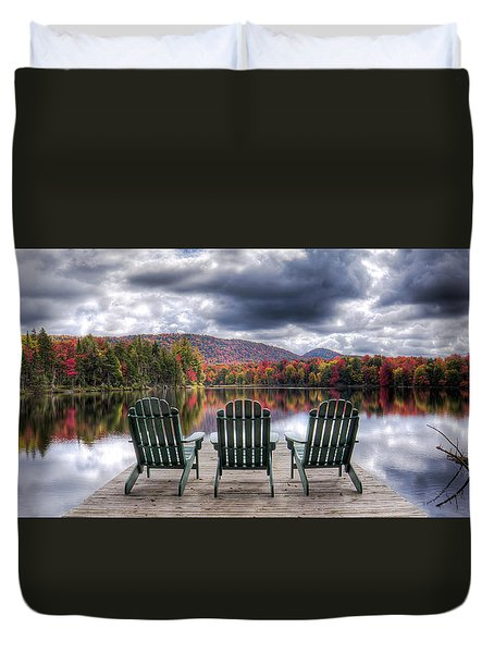Relishing Autumn Duvet Cover by David Patterson