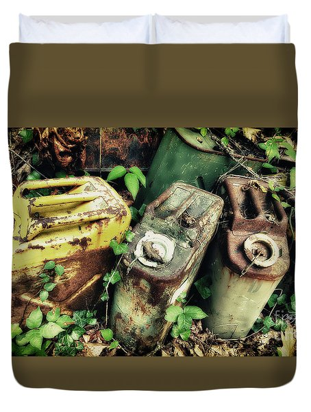 Remains Of The Day - Camp Mountain Lake Duvet Cover