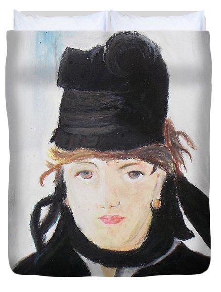 Remake Portrait Of Berthe Morisot Duvet Cover