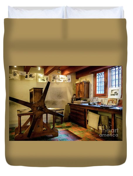 Duvet Cover featuring the photograph Rembrandt's Former Graphic Workshop In Amsterdam by RicardMN Photography