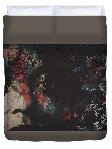 Duvet Cover featuring the painting Remember Me by Paul Lovering