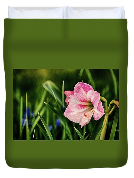 Remembering Amaryllis Duvet Cover