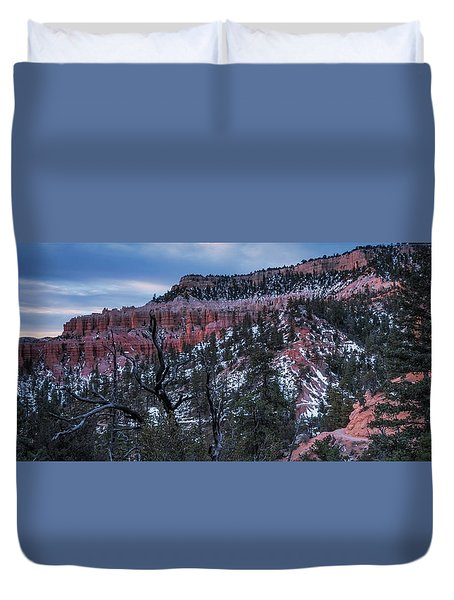 Duvet Cover featuring the photograph Remembering Bryce by Edgars Erglis