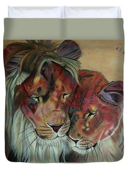 Remembering Cecil Duvet Cover by Melita Safran