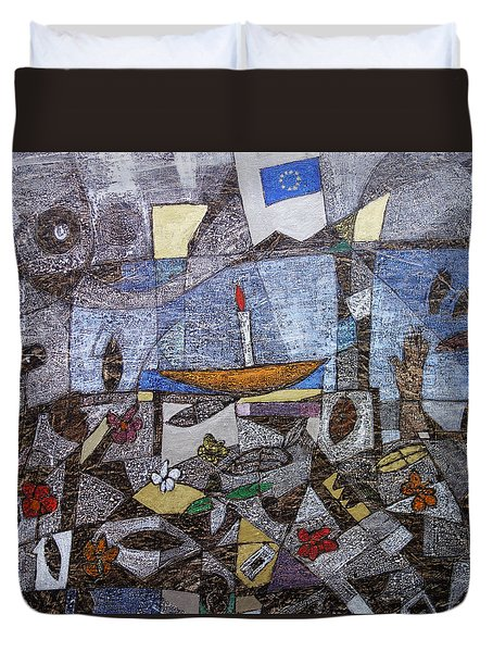 Remembering Dreamers Duvet Cover by Ronex Ahimbisibwe