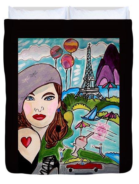 Remembering Paris Duvet Cover
