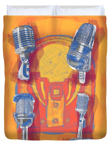 Remembering Radio Duvet Cover