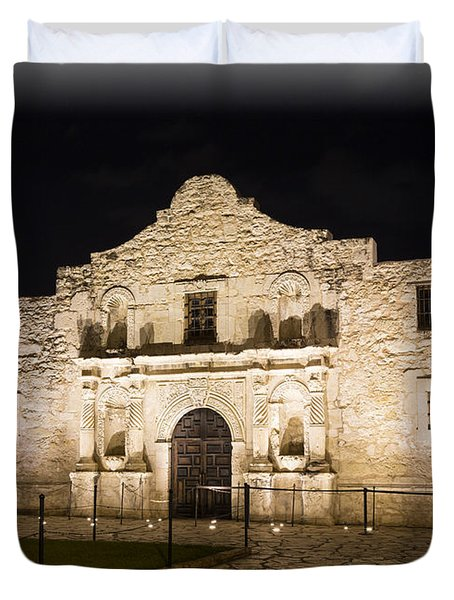 Remembering The Alamo Duvet Cover