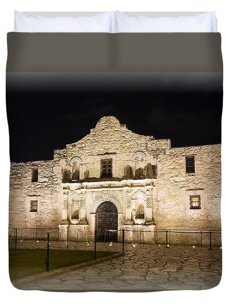 Remembering The Alamo Duvet Cover by Stephen Stookey