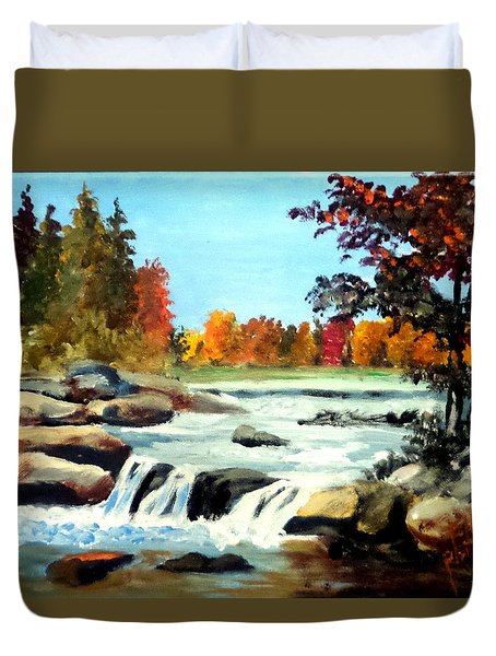 Remembering The Little Broad River Duvet Cover