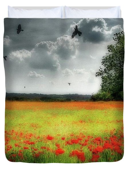 Remember #rememberanceday #remember Duvet Cover by John Edwards