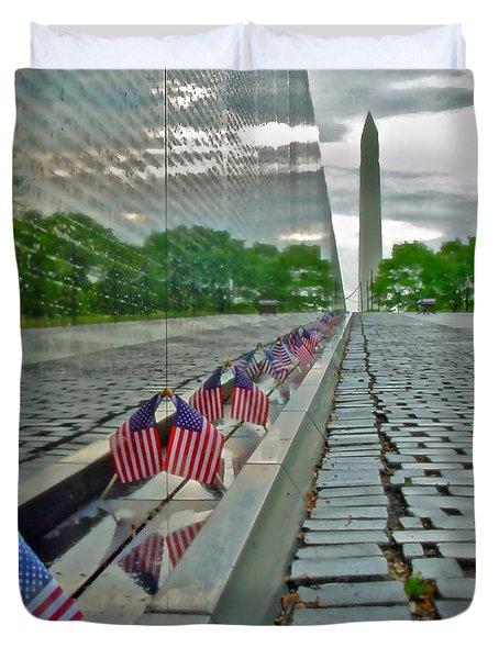 Remembrance Of Patriotism Duvet Cover