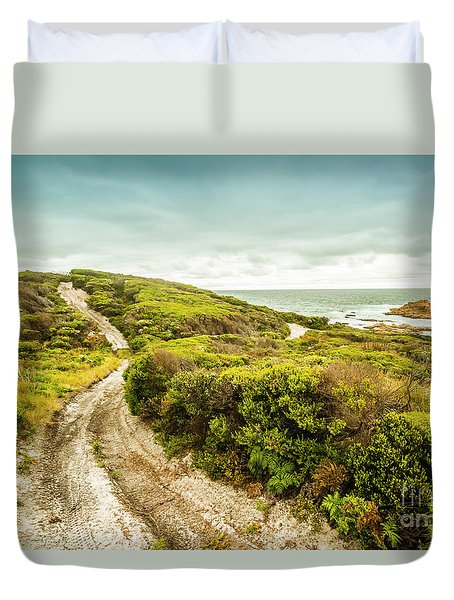 Remote Australia Beach Trail Duvet Cover