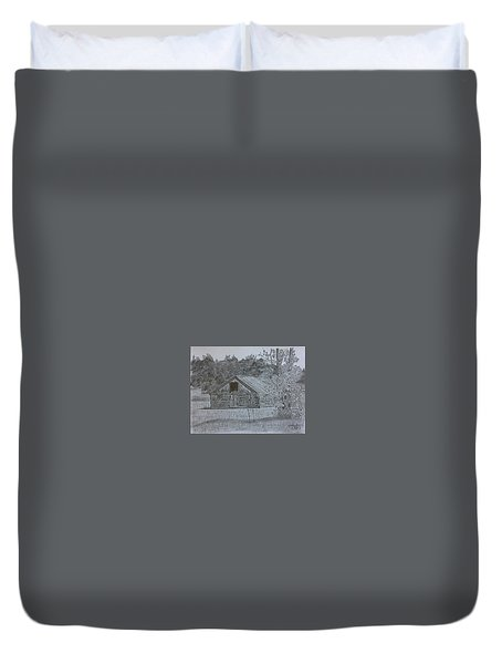 Remote Cabin Duvet Cover