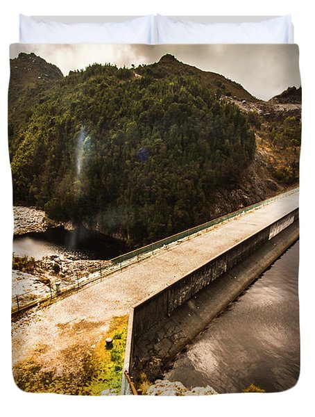 Remote River Crossing Duvet Cover