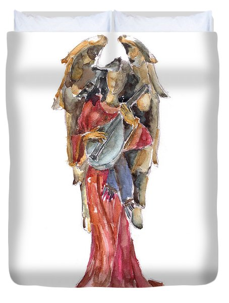 Renaissance Angel Duvet Cover by Claudia Hafner
