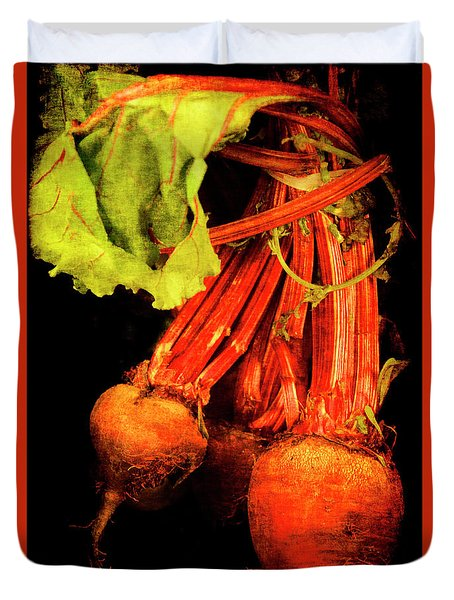 Duvet Cover featuring the photograph Renaissance Beetroot by Jennifer Wright